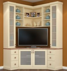 20 best diy entertainment center design ideas for living room corner entertainment center corner unit entertainment Pallet Entertainment Centers, Entertainment Fireplace, Entertainment Furniture, Entertainment Stand, Corner Tv Cabinets, Corner Hutch, Corner Shelves, Corner Tv Unit, Corner Wall