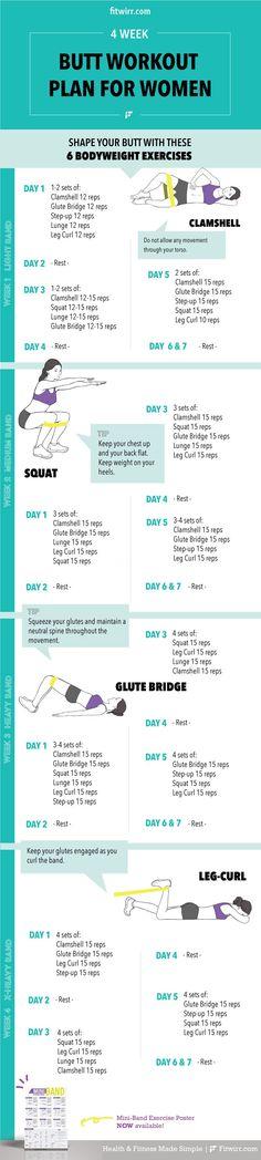 Butt workout for women. #buttexercises