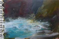 Kristan Baggaley. Rock and Sea Study.Cornwall Watercolour
