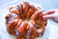 Simple and Delicious Monkey Bread - A Whole Lotta Oven Oven Recipes, Baking Recipes, Cookie Recipes, Sweets Recipes, Cinnamon Roll Dough, Cinnamon Rolls, Strawberry French Toast, My Favorite Food, Favorite Recipes