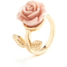 ModCloth Fairytale Retro Rosie Ring ($9.99) ❤ liked on Polyvore featuring jewelry, rings, accessories, anillos, bijoux, rose charm, retro rings, flower charms, pink flower ring and charm jewelry