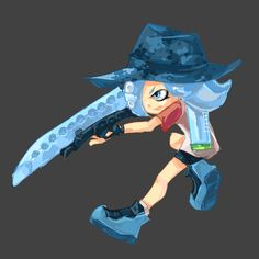 Octoling new weapon art - Album on Imgur