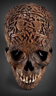 Tibetan skull carving with Citipati, Lords of the Cemetery.  Life is short--use it well:)