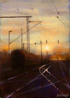 Artist-Elena Yushina, 2011-Sunset.. Sunrise