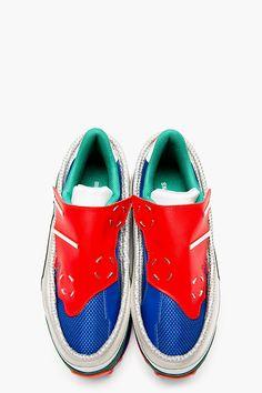 RAF SIMONS Blue & Red Platform Adidas Edition Sneakers