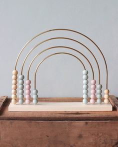 Large Painted Abacus Rainbow Gives 8 meals - Kids&Baby Toys Wooden Baby Toys, Wood Toys, Montessori Toys, Montessori Elementary, Montessori Infant, Montessori Bedroom, Rainbow Baby, Rainbow Toys, Nursery Furniture