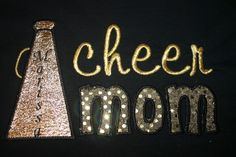 Cheer MOM Embroidered Applique Spirit Tshirt by 2HartsCreations, $22.00