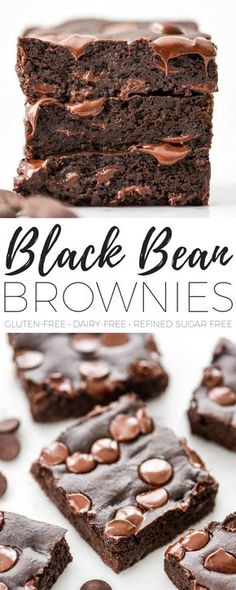 The BEST Black Bean Brownies Recipe ever + a video! I make these embarrassingly often because they are the perfect healthy dessert that's ready in 30 minutes and are delicious straight from the oven. #dairyfree #glutenfree #brownies #chocolate #blackbeans #blackbeanbrownies #vitamix #recipe #video
