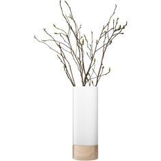 LSA Lotta vase/lantern ash base H62cm in white found on Polyvore