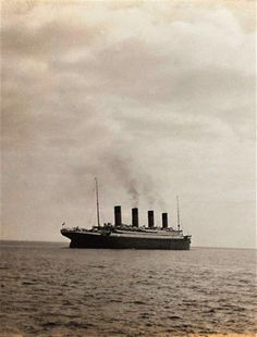 The last known photo taken of the Titanic as it sails off into history. (1912). I posted this in honor of the 100th anniversary of the Titanic's sinking.