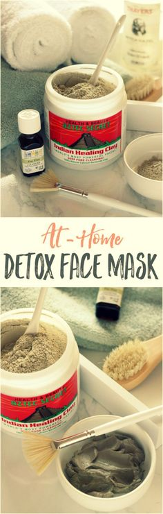 Detoxifying Clay Mask | You just mix bentonite clay, witch hazel and tea tree essential oil in a little bowl, and then apply it to your face. I like using a nice wide face brush to apply it evenly. Hang out and read your favorite magazine — or blog — for 15 minutes, and wash off all the toxins from your gorgeous face. via: @thelivefitgirl