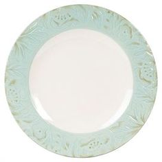 "Bring Parisian flair to your dining room decor with this très chic design, perfect for highlighting your next ladies luncheon or Sunday brunch.   Product: Dinner plateConstruction Material: StonewareColor: GreenFeatures: Toulouse collectionDimensions: 0.75"" H"