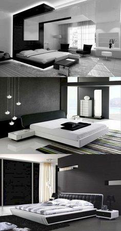 65+ STUNNING BLACK AND WHITE MODERN BEDROOM DECOR IDEAS #bedrooms #bedroomdecor #bedroomdecorideas