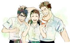 Kids on the Slope ~~~ Ritsuko, a Goddess of Yaoi who protects the love of the two boys behind her.