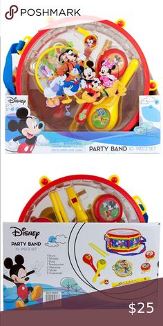 Disney Toys, Disney Mickey Mouse, Baby Toys, Kids Toys, Tambourine, Learning Toys, Mouse Parties, Flute, Drum