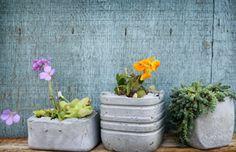 Low cost Decoration: Hacer macetas con cemento | Manualidades y Artesanía