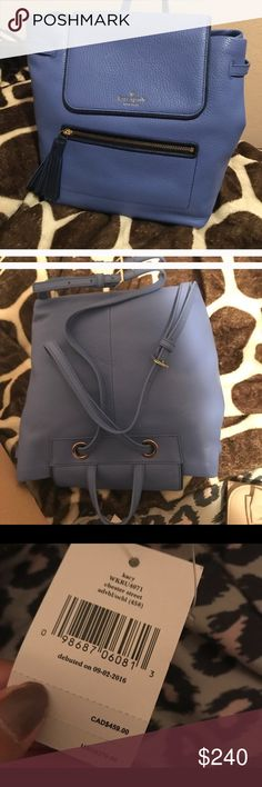 Kate Spade Blue Mulberry Street Breezy Backpack Like New is this beautiful shade of ocean blue...100% Authentic Kate Spade ♠️ Genuine Leather Backpack Bag. Plenty of Room, perfect to use as diaper bag or for a lovely college student. Kate Spade Ocean Blue Leather Small Breezy Mulberry Street Backpack.  100% Authentic or your money back! Retails $395.00 kate spade Bags Backpacks
