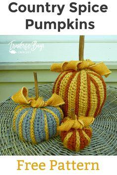 crochet pumpkin free pattern All Free Crochet, Single Crochet, Double Crochet, Crochet Fall, Crochet Toys, Easter Crochet Patterns, Fall Patterns, Crochet Pumpkin, I Love This Yarn