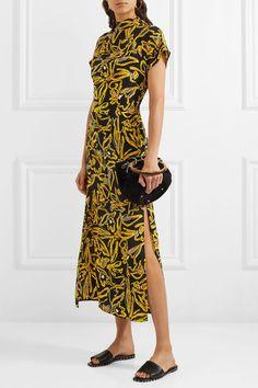 136fe1cfaa DIANE VON FURSTENBERG beautiful Printed women s silk crepe de chine dress