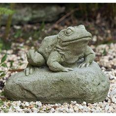 Elegant Large Unfinished Ceramic Bisque Happy Garden Frog Statue | Frogs | Pinterest