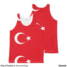 Flag of Turkey All-Over Print Tank Top