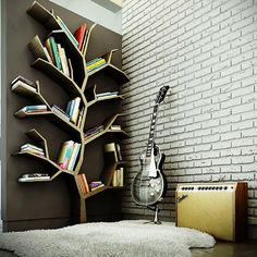 Dishfunctional Designs: Tree Bookcase. This would be fun for a kid's room