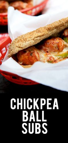 Chickpea Ball Subs; looks yummy. I would like to make up a bunch of chick pea balls and freeze to have on hand.