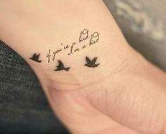 If you're a bird, I'm a bird!