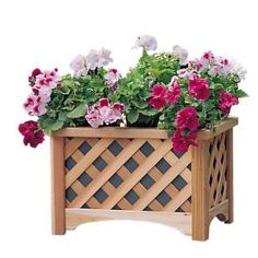 Arboria Cedar Windsor Rectangle Planter-826.3114 at The Home Depot $97.48