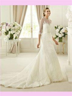 White Mermaid Sweetheart Lace 2013 Wedding Dress AWD420231