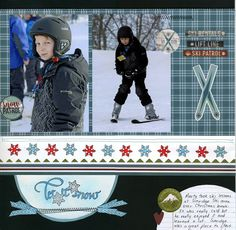 Quietfire Creations: Let it Snow Scrapbook Layout