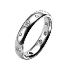 EC One Ring | Platinum Eternity Diamond Scatter Ring