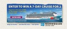 Enter to win a 7-day cruise for 2 from Philadelphia Flower Show sponsor Norwegian Cruise Line!