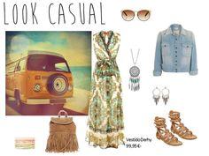 Look casual con el vestido largo estampado de Derhy.  http://www.boutiqueclara.com/blogs/boutiqueclara-blog/8194491-nos-vamos-de-shopping-look-casual-vs-look-de-fiesta