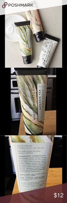 Illume wind & whisper Japanese Tea Hand cream Hand Cream (2.5fl oz) with notes of green tea leaves, Jasmine and mandarin. which leaves the hands smooth and soft😊. Anthropologie Other