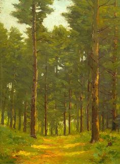 """The Wood Road,"" Charles Warren Eaton, oil on board, 16 x 11 3/4"", private collection."