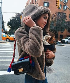 "Polubienia: 3,786, komentarze: 17 – BAMBI NORTHWOOD BLYTH (@bambilegit) na Instagramie: ""KEEPING WARM IN THE HOOD WITH Wolfie & @mango 💕 #Mango #MangoGirls 🍒"""