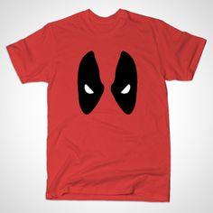 Deadpool Mask by MINIMALISTHEROES - #Deadpool #Marvel #TShirt #TeePublic #Shirt #Comics #ComicBooks
