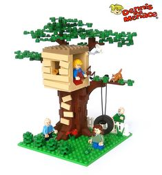 Dennis The Menace – Dennis' Treehouse Dennis' treehouse – could be modified to be Bart's treehouse and fit with the Simpsons Lego house Minifigura Lego, Lego Craft, Lego Toys, Big Lego, Lego Star, Lego Modular, Lego Design, Lego City, Lego Tree House