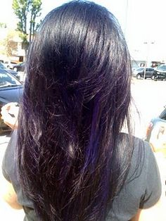 Brilliant Dyed My Hair Dark Brown And Added A Purple Peekaboo Highlight Short Hairstyles For Black Women Fulllsitofus