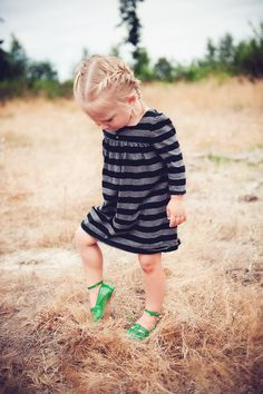 The hair, the dress, the shoes...all too cute!