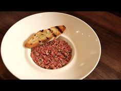 Raw beef is all the rage at restaurants around the country, and today Zagat's Molly Moker is visiting NYC's Colicchio and Sons to score a simple recipe for b. Steak Tartare, Visiting Nyc, Ratatouille, Easy Meals, Beef, Ethnic Recipes, Food, Drink, Youtube