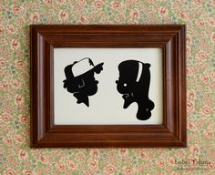 Gravity Falls Dipper and Mabel Pines Paper Silhouette Set. $35.00, via Etsy. *gasp*