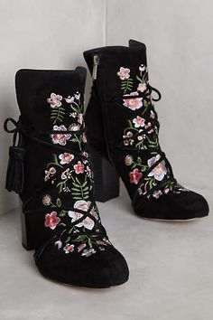 Sam Edelman Winnie Ankle Boots - anthropologie.com Black embroidery Ankle Boots