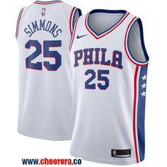 Men s Nike Philadelphia 76ers  25 Ben Simmons White Stitched NBA Swingman  Jersey Cheap Nba Jerseys a6308d707