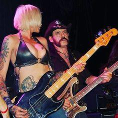 Lemmy Kilmister and Corey Parks Ladies Of Metal, Heavy Metal Girl, Women Of Rock, Rocker Girl, Guitar Girl, Female Guitarist, Rock N Roll Music, Rock Groups, Rockn Roll