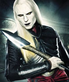Luke Goss as Prince Nuada in Hellboy II: The Golden Army, 2008. (male demon, dark elf)