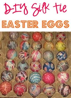 DIY Silk Tie Easter Eggs! ~ at TheFrugalGirls.com ~ you'll love these tips for this fun technique to coloring your Easter eggs this year! The colors are so vibrant!! #eastereggs #crafts #thefrugalgirls
