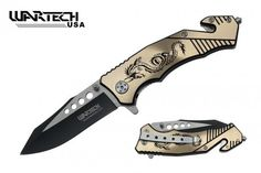 """8"""" Two Toned Dragon Spring Assisted Tactical Rescue Knife - Blue, Gold – Everlasting Essentials  http://everlastingessentials.com/collections/safety-and-security/products/8-two-toned-dragon-spring-assisted-tactical-rescue-knife-blue-gold-green-grey"""