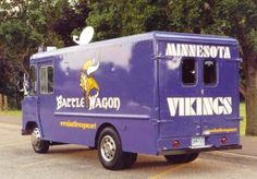 The Battlewagon is the ultimate tailgating vehicle and must see in the Vikings lots. The vehicle and it's owners are throwbacks to Met Stadium days.